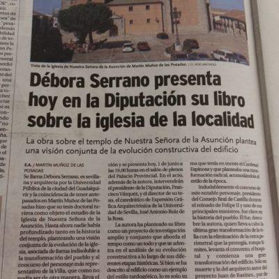 Iglesia de Nuestra Señora de la Asunción de Martín Muñoz de las Posadas (Segovia). Análisis arquitectónico e histórico por Débora Serrano García.